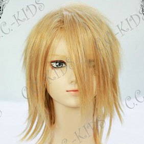 Blonde Mid-Long Nylon Cosplay Wig