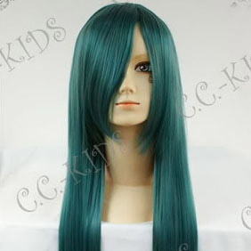 Blue Long Nylon Straight Cosplay Wig