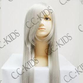 White Semi-Long Nylon Straight Cosplay Wig