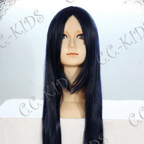 Dark Blue Long Nylon Straight Cosplay Wig