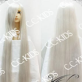 White Long Nylon Straight Cosplay Wig