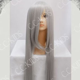 Light Gray Long Nylon Straight Cosplay Wig
