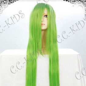 Light Green Long Nylon Straight Cosplay Wig