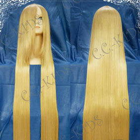 Beige Blonde Long Nylon Cosplay Wig