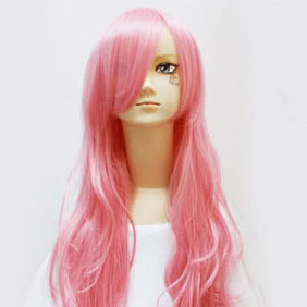 Pink Long Nylon Wavy Cosplay Wig