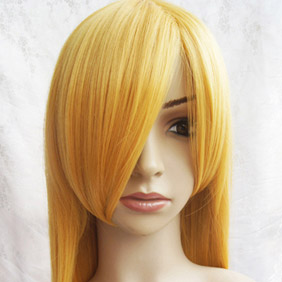 Orange Long Nylon Straight Cosplay Wig