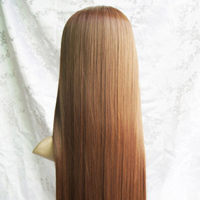 Mix Brown  Long Nylon Straight Cosplay Wig