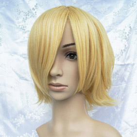 Blonde  Ouran High School Host Club  honey Short Nylon Cosplay Wig