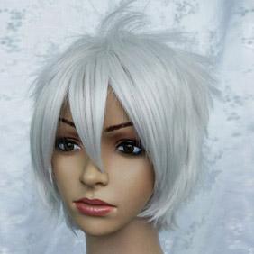 White Gintama  Sakada Gintoki Short Nylon Cosplay Wig