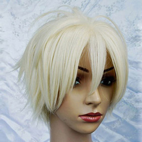 Light Yellow Betrayal Knows My Name  Hotsuma Renjyou Short Nylon Cosplay Wig