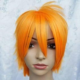 Orange Black Butler Kuroshitsuji Finian Short Nylon Cosplay Wig