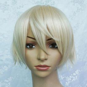 Light Yellow Black Butler Kuroshitsuji  Alois trancy  Short Nylon Cosplay Wig