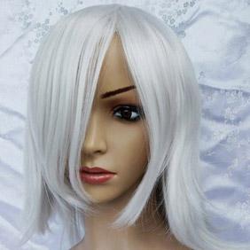 Light Gray Short Nylon Cosplay Wig