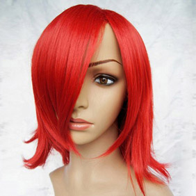 Mix Red Short Nylon Cosplay Wig