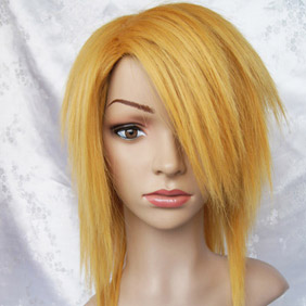 Yellow Lucky Dog1 Gian Carlo Semi-Long Nylon Cosplay Wig