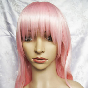 Pink VOCALOID MAGNET Megurine Luka Long Nylon Wavy Cosplay Wig