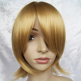 Blonde VOCALOID Kagamine Rin Mid-Long Nylon Cosplay Wig