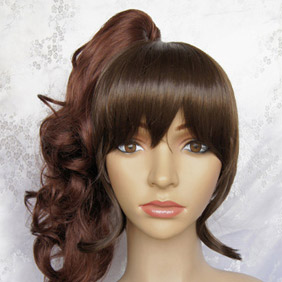 Brown Umineko no Naku Koro ni  Natsuhi Ushiromiya Long Nylon Wavy Cosplay Wig