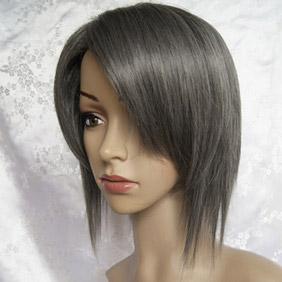 Gray  Umineko no Naku Koro ni  kanon Short Nylon Cosplay Wig