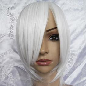 White Short Nylon Cosplay Wig