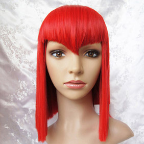 Red Black Butler Kuroshitsuji  Madam Mid-Long Nylon Cosplay Wig