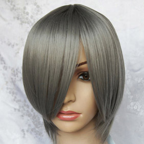 Gray Short Nylon Cosplay Wig
