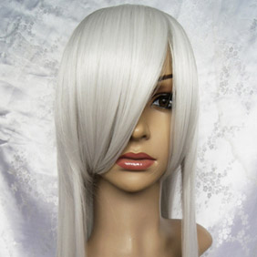 White Long Nylon Straight Cosplay Wig