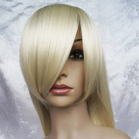 Blonde Long Nylon Straight Cosplay Wig