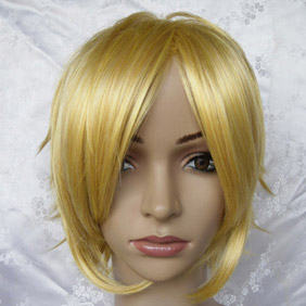 Golden Short Nylon Straight Cosplay Wig