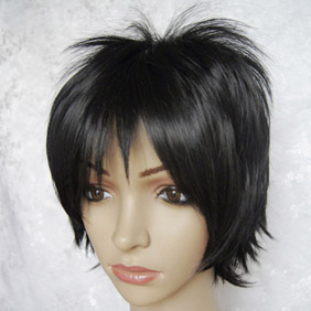 Black DURARARA  Orihara Izaya Short Nylon Cosplay Wig