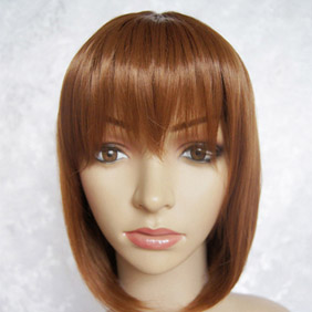 Brown  K-ON!  Hirasawa Yui Short Straight Nylon Cosplay Wig