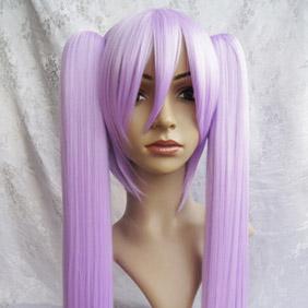 Purple LUCKY☆ STAR  Hiiragi Kagami Long Straight Nylon Cosplay Wig