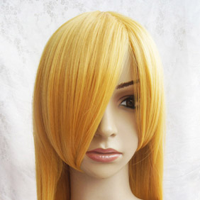 Yellow Katekyo Hitman Reborn Bianchi Long Straight Nylon Cosplay Wig