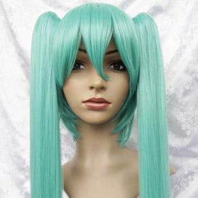 Vocaloid 初音MIKU ブルー  耐熱新素材 ロング ストーレート コスプレウィッグ