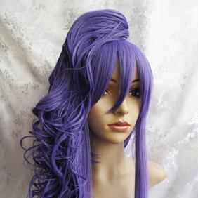 Purple VOCALOID Ryuno nakuhakoniwa yori Gakupo Long Wavy Nylon Cosplay Wig