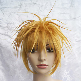 Blonde VOCALOID Ryuno nakuhakoniwa yori Kagamine Len Short Nylon Cosplay Wig