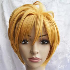 Blonde VOCALOID Ryuno nakuhakoniwa yori Kagamine Rin Short Nylon Cosplay Wig
