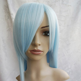 Light Blue Long Straight Nylon Cosplay Wig