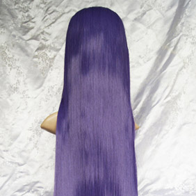 Purple Long Straight Nylon Cosplay Wig