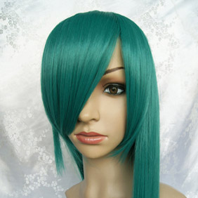 Green Long Straight Nylon Cosplay Wig