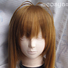 Brown CLANNAD Furukawa Sanae Long Straight Nylon Cosplay Wig