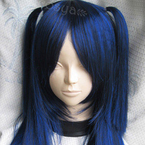 Dark Blue  CLANNAD ICHINOSE KOTOMI Long Straight Nylon Cosplay Wig