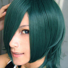 Dark Green Gundam00 allelujah Short Nylon Cosplay Wig