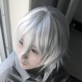 White  Neon Genesis EVANGELION Kaworu Nagisa Short Short Nylon Cosplay Wig