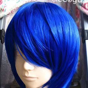 Blue VOCALOID Blue Short Nylon Cosplay Wig