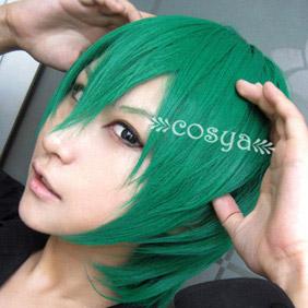 Green Lucky Star   Iwasaki Minami  Short Nylon Cosplay Wig