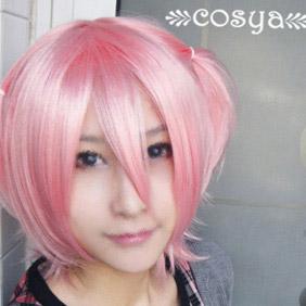 Pink Lucky Star   Kogami Akira  Short Nylon Cosplay Wig