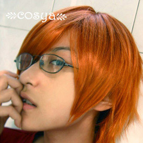 Orange Katekyo Hitman Reborn WIG0024  Short Nylon Cosplay Wig