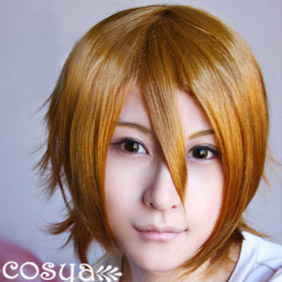 Blonde Katekyo Hitman Reborn WIG0026 Short Nylon Cosplay Wig