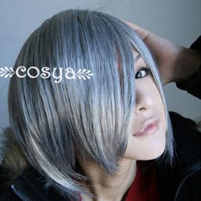 Silver Katekyo Hitman Reborn WIG0028  Short Nylon Cosplay Wig